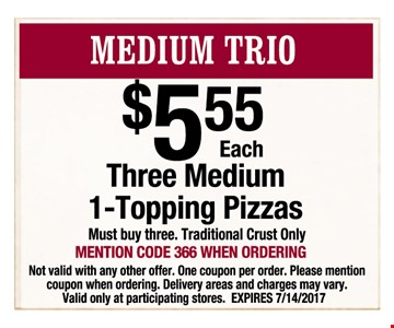 Medium Trio $5.55