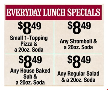Everyday Lunch Specials only $8.49