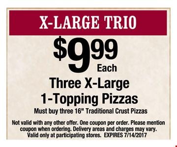 X-Large Trio $9.99