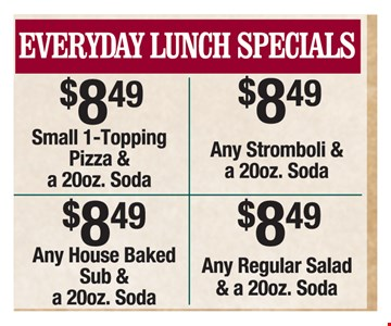 Everyday Lunch Specials