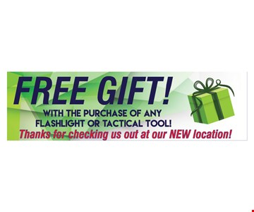 Free Gift with purchase of any flashlight or tactical tool