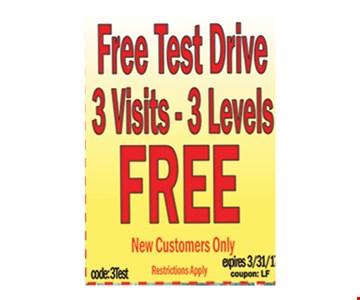free test drive 3 visits