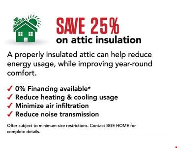 Save 25% on attic insulation