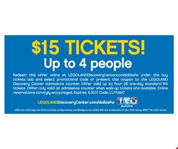 $15 tickets