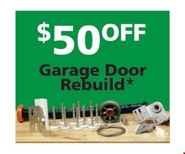 $50 off Garage Door Rebuild