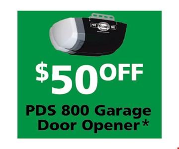 $50 off PDS garage door opener
