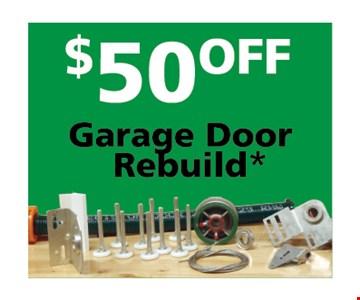 $50 garage door rebuild