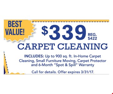 $339 Carpet Cleaning