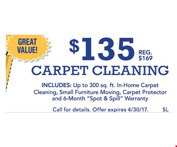 $135 carpet cleaning