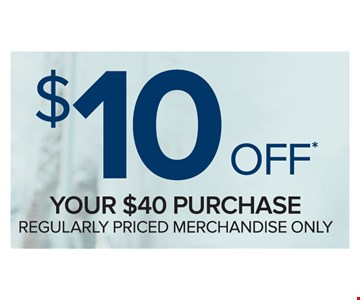 $10 Off Your $40 Purchase
