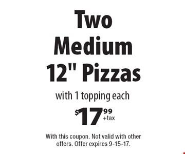Two Medium 12