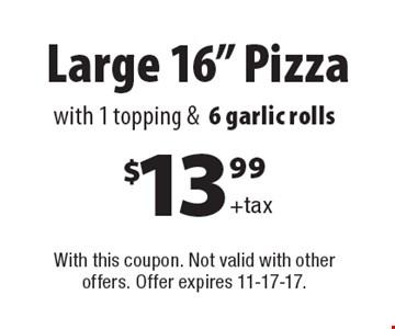 $13.99+tax Large 16