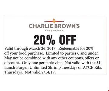 20% off your food purchase