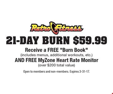 $59.99 21-DAY BURN - Receive a FREE