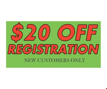 $20 Off Registation