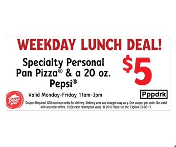 Weekday Lunch Deal $5