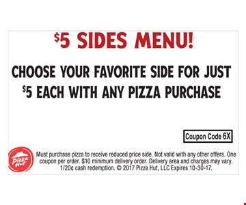 $5 Sides Menu