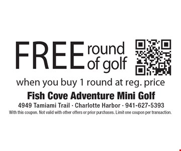 free round of golf when you buy 1 round at reg. price. With this coupon. Not valid with other offers or prior purchases. Limit one coupon per transaction.