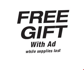 Free Gift with Ad