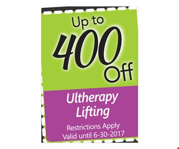 Up To $400 Off Ultherapy Lifting
