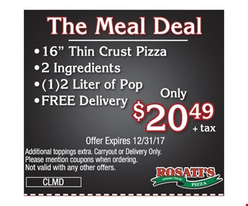 $20.49 meal deal