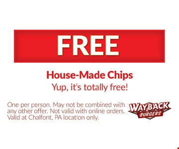 Free house-made chips