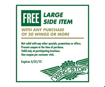 Free large side item