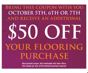 $50 Off Your Flooring Purchase