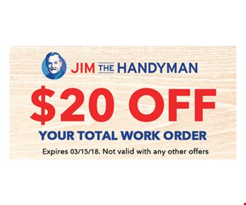 $20 off your total work order.