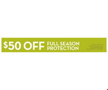 $50 off Full Season Mosquito Protection