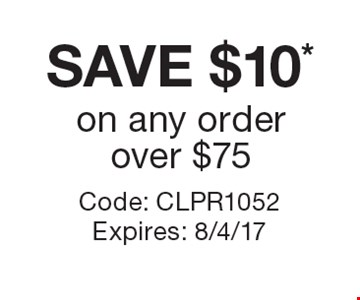 SAVE $10* on any order over $75. Code: CLPR1052 Expires: 8/4/17 *Cannot be combined with any other offer. Restrictions may apply. See store for details. Edible®, Edible Arrangements®, the Fruit Basket Logo, and other marks mentioned herein are registered trademarks of Edible Arrangements, LLC. © 2017 Edible Arrangements, LLC. All rights reserved.