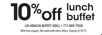 Lin's buffet coupons