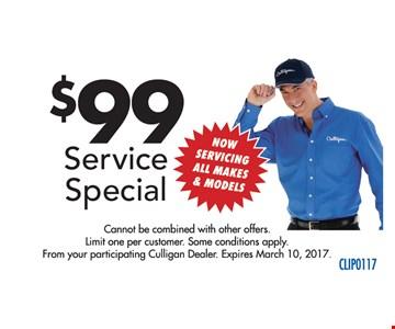 $99 Service Special.