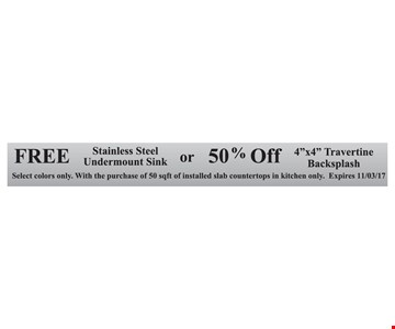 Free Stainless Steel Undermount Sink or 50% Off 4