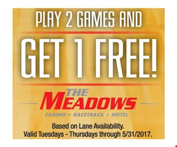 play 2 games and get 1 free
