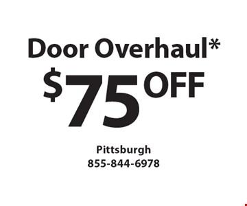Door Overhaul* $75 OFF. *must mention Clipper Magazine when calling
