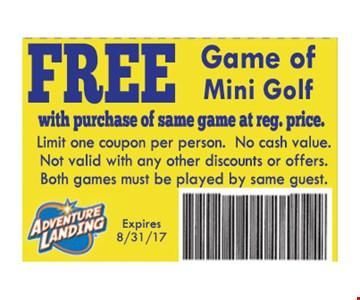 Free Game of Mini Golf