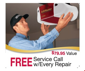 Free service call with every repair. $79.95 value.