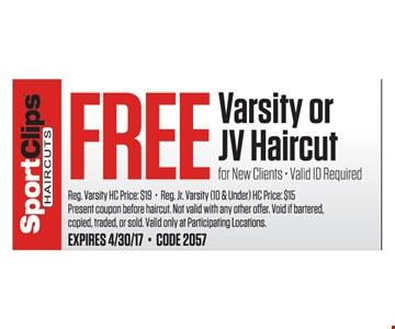 Free varsity or JV haircut