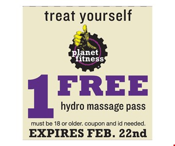 1 Free Hydro Massage Pass