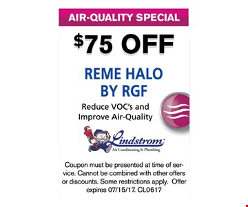 $75 off Reme Halo By RGF
