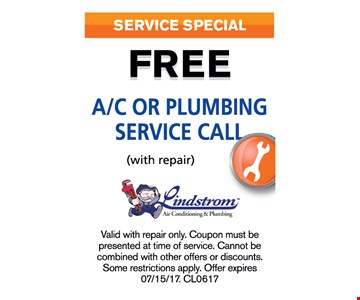 Free A/C or plumbing service call