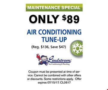 $89 Air conditioning tune-up
