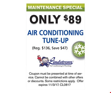 AC tune up for $89.
