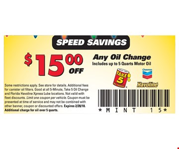 $15 Off any oil change