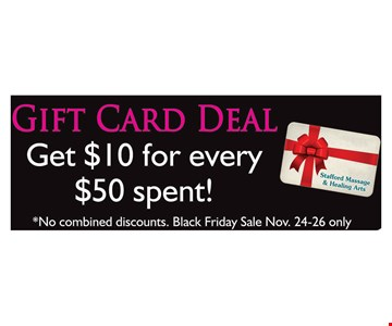 Gift Card Deal Get $10 for every $50 Spent
