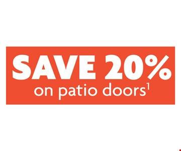 Save 20% On Patio Doors
