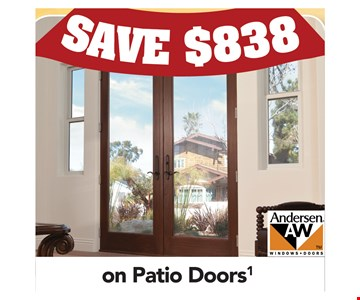 Save $838 on Patio Doors