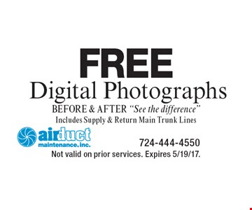 Free digital photographs. Before & after -