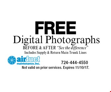 FREE Digital Photographs (BEFORE & AFTER).